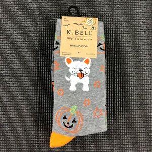 🆕 K.Bell  Halloween French Bulldog Socks 2 Pack